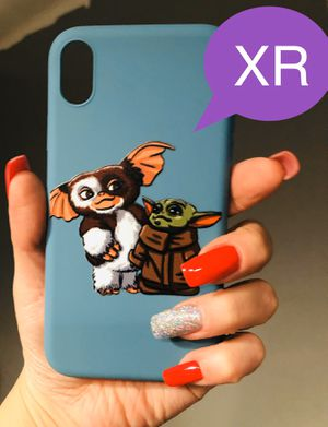 Brand new cool iphone XR case cover rubber blue baby yoda Star Wars gremlins collab mens guys hypebeast hype swag for Sale in San Bernardino, CA