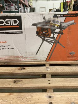 RIDGID 15 Amp 10 in. Table Saw with Folding Stand for Sale in Las Vegas,  NV