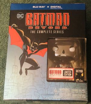 BATMAN BEYOND THE COMPLETE SERIES BLU-RAY SEALED LIMITED EDITION FUNKO POP for Sale in Countryside, IL