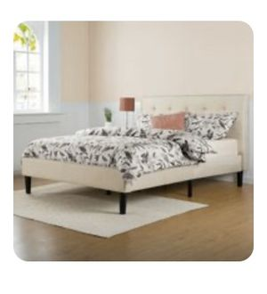 Mattress and Tufted Bed Frame for Sale in Tampa, FL