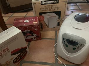 Two bread makers, baked fill, cookie baker -all for 50 for Sale in Phoenix, AZ