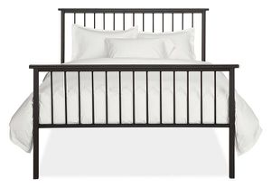 King bed Room and Board Macintosh Iron bed frame for Sale in Williams Bay, WI