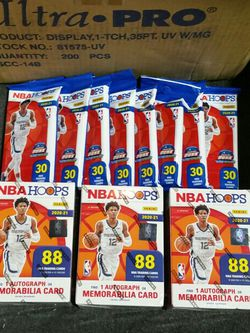 NBA Hoops Blaster Box & Fat Packs, 88 Basketball Cards! for Sale in Garden Grove,  CA
