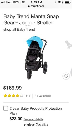 Baby trend baby/ toddler stroller and car seat set for Sale in Long Beach, CA