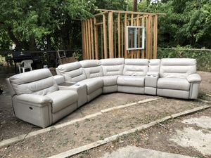 White leather couches !! Throw me a offer !! for Sale in San Antonio, TX