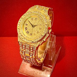 Men's lab diamonds watch with original box and tags for Sale in Brooklyn, NY