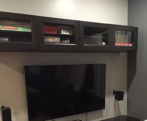 TV Floating Storage, Glass Doors, IKEA for Sale in Los Angeles, CA