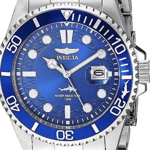 NEW men's INVICTA limited edition hammerhead-shark blue steel 43mm size, In DELRAY BEACH. 43mm size face. Professional diving watch. BRAND NEW with o for Sale in Delray Beach, FL