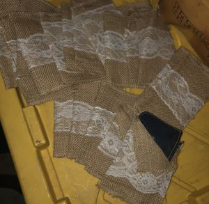 21- new decorative pouches made of burlast and lace 3x2 in located off lake mead and jones area asking $3. For all 21 for Sale in Las Vegas, NV