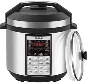 COSORI Upgraded 8-in-1 6 Qt Electrical Pressure Cooker with Instant Stainless Steel Pot, 19 Program Slow Cooker, Rice Cooker, Yogurt Maker, Saute, St for Sale in Glendora, CA