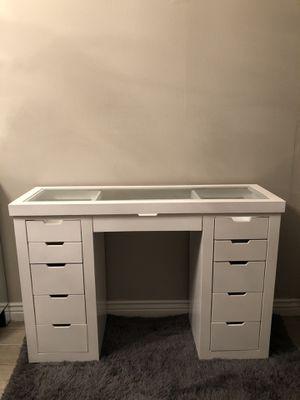 Glass top vanity desk for Sale in Phoenix, AZ