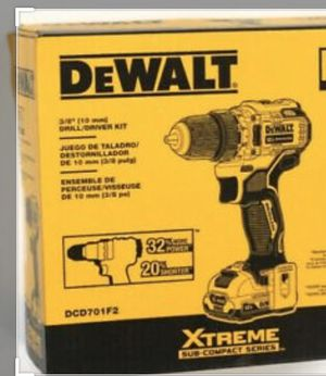 Brand New DEWALT XTREME 12-Volt Max 3/8-in Brushless Cordless Drill, 1 battery for Sale in Alhambra, CA