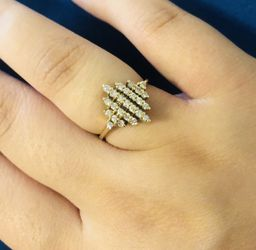 14K Genuine Gold & Diamond Ring 6 for Sale in Washington,  DC