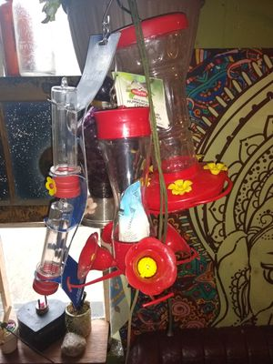 Humming bird feeders and food for Sale in Westfield, NY