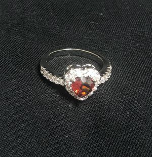 Sterling Silver Red Heart CZ Ring for Sale in Las Vegas, NV