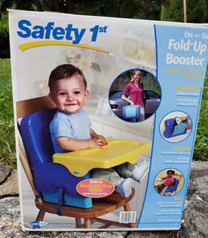 Safety 1st Fold Up Booster Seat with Tray Adjustable height Straps to a chair Safety straps for child Folds up for easy to carry along $12 for Sale in Newtown, CT
