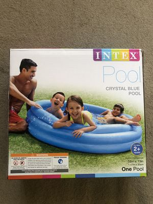 "INTEX Crystal Blue Pool Inflatable Above Ground For Kids 58""X 13"" for Sale in Las Vegas, NV"