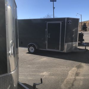 New 2021 6x12+v-nose R&M Enclosed Cargo Trailer for Sale in Aurora, CO