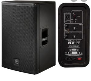 """(4) Speakers powered (1) EV ELX11P 18"""" powered sub (3) ELX115P powered speakers for Sale in Miami, FL"""