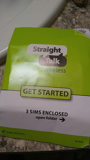 Straight talk phone card for Sale in Dickinson, ND