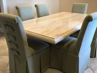 Travertine Dining Table And Chairs for Sale in St. Petersburg,  FL