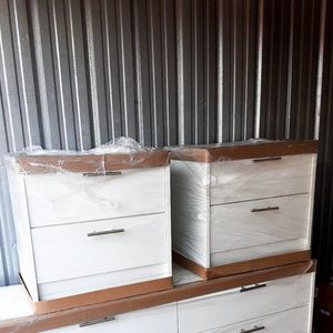 NEW PRETTY WHITE DRESSER WITH 2 NIGHTSTANDS INCLUDED FOR for Sale in Palm Beach Shores, FL