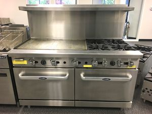 """60"""" commercial combination range stove, business for Sale in Kent, WA"""