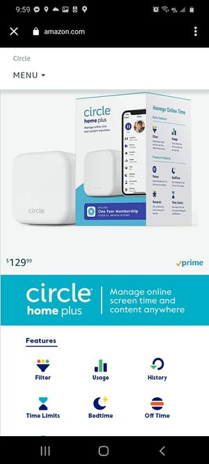 Circle Internet parental control interface for Sale in Molalla, OR