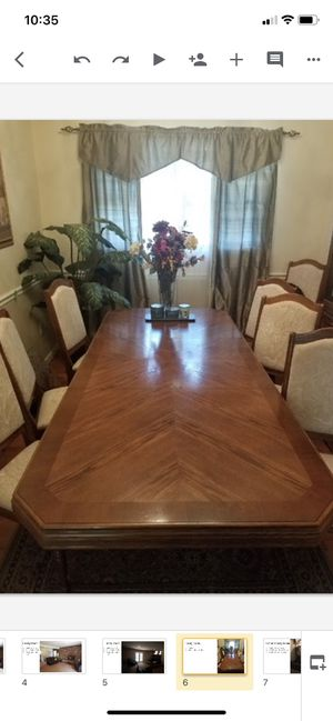 Dining Table (Seats 8) matching China Closet for Sale in Adelphi, MD