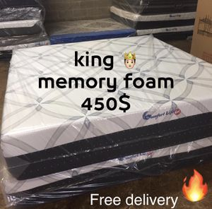 King memory foam mattress for Sale in Silver Spring, MD