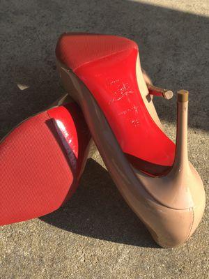 Womens Christian Louboutin New So Kate Size 36 Tan Nude Heels 6. for Sale in Atlanta, GA