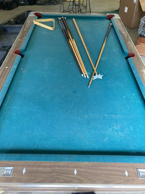 Pool table (slate) for Sale in Hallsville, TX