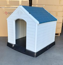 """New in box $110 Plastic Dog House Large Size Pet Indoor Outdoor All Weather Shelter Cage Kennel 36x34x38"""" for Sale in Whittier,  CA"""
