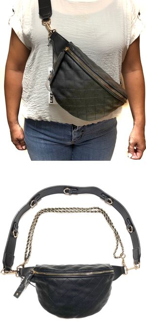 NEW! Faux Leather Waist / Shoulder Side Bag fanny pack crossbody bag travel purse pouch for Sale in Los Angeles, CA