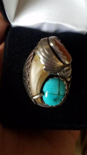 Native American ring in silver for Sale in Modesto, CA