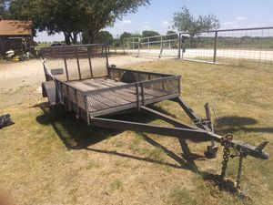 12 by 10 flatbed trailer with rear ramp and safety rails for Sale in Abilene, TX