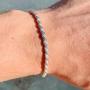 Rope Bracelet 925 Sterling Silver for Sale in Freehold, NJ