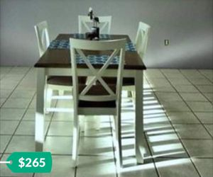 Kitchen table with four chairs white and grey like new for Sale in Winter Haven, FL