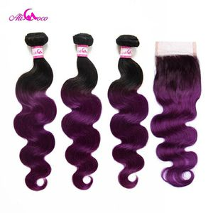 Purple bundles with lace closure for Sale in Columbus, OH