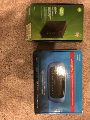 Modem and Router for Sale in Stafford, VA