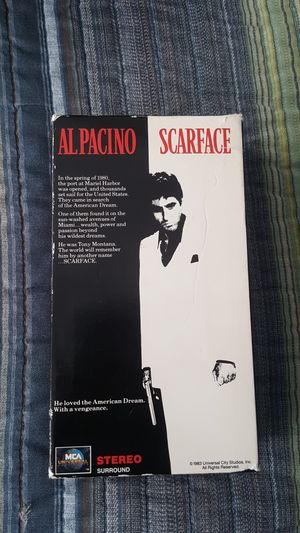 AlPacino Scarface VHS for Sale in NC, US