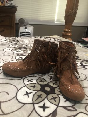 Justices girl boots size 3 for Sale in Azusa, CA
