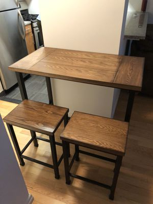 Table and matching stools for Sale in PECK SLIP, NY