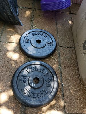 1 inch 10 LB Weight plates for Sale in Rialto, CA