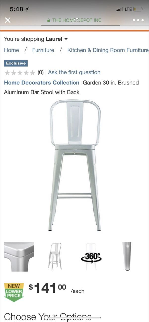 home Decorator Collection garden bar stools brand new