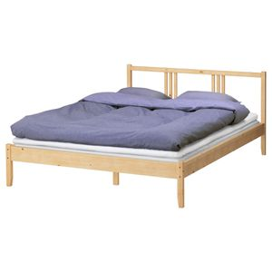 Ikea wooden bed frame with mattress for Sale in Brooklyn, NY