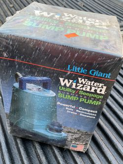 Water Wizard Little Giant Submersible Sump Pump - Brand new in box. Box has damage /dirt on it from storage. I have two available - $75 each. Featur for Sale in East Point,  GA