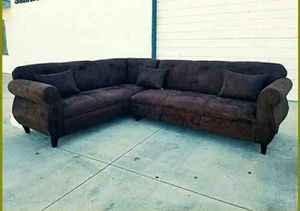 NEW 7X9FT DARK BROWN MICROFIBER SECTIONAL COUCHES for Sale in La Mesa, CA