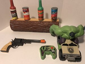 Wild West Shooting Set and Hulk Remote Controlled Car for Sale in Ellendale, DE