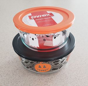 Pyrex Halloween 4pc Container Set for Sale in New Bedford, MA